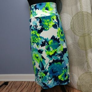 NWT Agnes & Dora watercolor pencil skirt